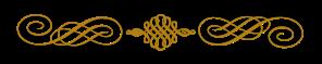 calligraphy divider gold